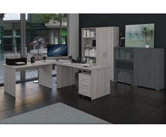 Büromöbel Set, Arbeitszimmer Phoenix 6-teilig Dekor Sonoma-Sorrento