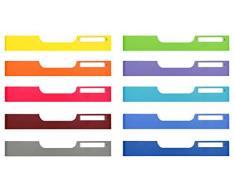 Exacompta 336999D Ablagesystem Modulodoc Set mit 10 normal A4, frontplatten Classic, farbig sortiert