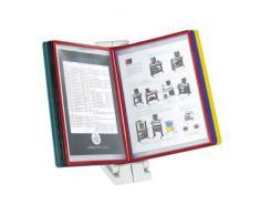 Safco QuickFind Referenzsystem für den Schreibtisch mit 10 doppelseitigen Fächern - grau