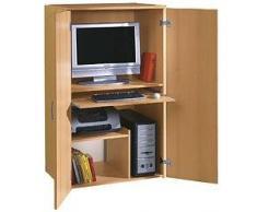 Büroschrank Buche PC Schrank Computerschrank - (813)