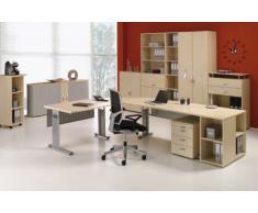 Gera Möbel S-382101-BU Rolloschrank Mailand 2 OH links anstellbar mit Standfüßen, 100 x 40 x 83 cm, buche