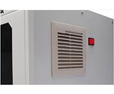 DIGITUS Professional SOHO Computergehäuse/PC-Schrank, abschließbare Glastür, inkl. Laufollen und Lüfter, Grau