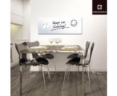 Eurographics Memo Board MB-WHITE3080 Magnet- und Schreibtafel aus Glas in weiß (inklusiv Stift + Magnete) White, 30x80cm