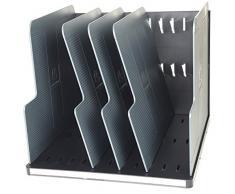 Exacompta 390714D Ablagesystem Modulotop, Vertikal Sorter mit 5 trennplatten Ecoblack, schwarz/mausgrau