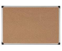 Bi-Office Korktafel Maya W, Mit Aluminiumrahmen, Hochwertige Naturkorkoberfläche, Pinnwand, 120 x 90 cm