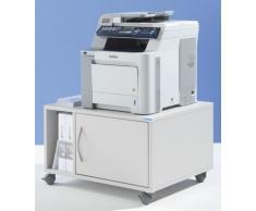 office akktiv Unterschrank, mobil - HxBxT 425 x 700 x 570 mm - lichtgrau RAL 7035 - Druckerschrank Druckerschränke Druckertisch Druckertische EDV Möbel EDV-Beistellmöbel EDV-Möbel Kopiertisch PC-Schrank Rollschrank Rollschränke Unterstellschrank