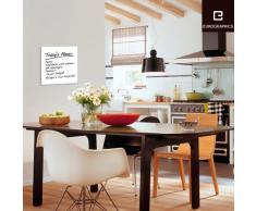 Eurographics Memo Board MB-WHITE3030 Magnet- und Schreibtafel aus Glas in weiß (inklusiv Stift + Magnete) White, 30x30cm