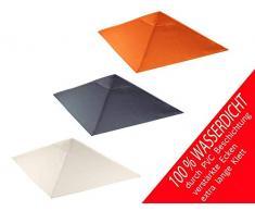 habeig Ersatzdach 340g/m² SPITZ Dach EXTRA STARK PVC Beschichtung Pavillondach Wasserdicht Pavillon ca 3x3m NEU (Beige #61)