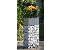 Blumenkübel Zink Blumenkasten mit Bewässerung Gabione Pflanzgabione B40xT20xH80