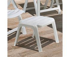 Kettler Rimini Hocker Gartenmöbel Fußhocker Kunststoff weiß lackiert