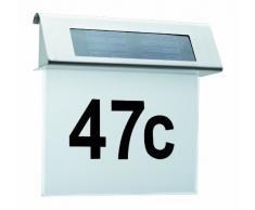 Paulmann Leuchten Special Solar Hausnummernleuchte IP44, LED 1 x 0.2W, Acryl, weiß / edelstahl 93765