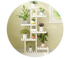 Afanyu Afanyu pflanze blumenständer mehrschichtige terrassenpflanze blumentopf halter wohnzimmer regale starke tragfähigkeit, mehrere farben,Weiß,67 * 25 * 116 cm