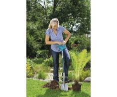 GARDENA Terraline Damen-Spaten: Gartenspaten mit Beschichtung zum Umgraben und Ausheben, mit Trittsteg und ergonomischem Stiel, D-Griff (3772-24)