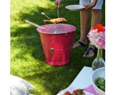 Sagaform 5016570 BBQ Grilleimer, pink - Höhe 27 cm, ø 27 cm