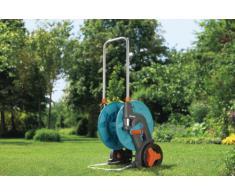 GARDENA Classic Schlauchwagen 60 TS, für mittlere und größere Gärten mit leichtlaufenden Profilrädern, abgewinkelter Schlauchanschluss verhindert Abknicken des Schlauches (8000-20)