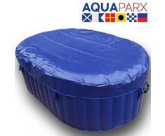 AQUAPARX Whirlpool AP-550SPA *oval 190x120cm* Pool 2Personen Wellness Jacuzzi Spa Whirlpoolzubehör Badewanne 2P Wanne Indoor Outdoor Heizung aufblasbar