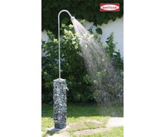 bellissa Gartendusche GABIONE - 95636 - Gabionen-Dusche für den Garten - Inkl. Bodenplatte - 16 x 16 x 220 cm