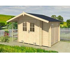 MARGHERITA – Gartenhaus aus Holz Tanne natur Gartenpro Stahlgerätehaus