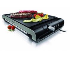 Philips HD4419/20 Tischgrill (verschiedene Temperaturstufen, Antihaftbeschichtung, 2300 Watt) schwarz/edelstahl