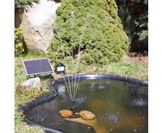 CLGarden Solar Pumpe Springbrunnen NKASP2 Solarpumpe mit Akku und LED Teichpumpe