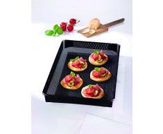 Durandal Ofenform 28x35x4 cm | Wiederwendbarer Ofenkorb & Grillkorb Kombination | Fettfreies Heißluft-Garen | Ideal auch als Pommesblech für Backofen