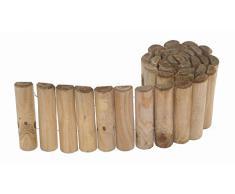 Siena Garden Beetrolli Siloux, Beetumrandung, Rasenkante, Beeteinfassung 1,8 m, 30 cm hoch, Ø Holz: 25 mm, kesseldruckimprägniert, Kiefer
