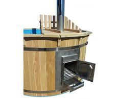 sell-tex Badezuber Badefass Badetonne Badebottich Pool Outdoor Hot Tub Whirlpool Komplettset mit Deckel Ø180cm