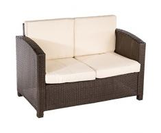 Ultranatura Poly-Rattan Lounge Sitzgruppe, Palma-Serie 4-teilig / Tisch + Couch + 2 Sessel inklusiv Auflagen