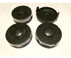 3 Ersatz Spule + 1 Haube / Deckel passend für Gardenline Rasentrimmer Elektro GLR 450 451 452 453 454 455 456 457 458 459 450/1 450/2 Spulenabdeckung ALDI HOFER Fadenspule Trimmerspule Deckel