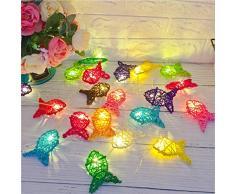 LED Sepak Takraw Farbige Fisch String Lampe Garten Pavillon Party Dekoration Lampe Fairy Rattan Schlafzimmer Zimmer Fenster String Outdoor Frostschutzmittel Sonnenschutz 2M 10Led