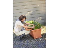Elho Green Basics Garten Xxl Untersetzer 80 - Lebhaft Schwarz - Draußen - Ø 72.2 x H 5.5 cm