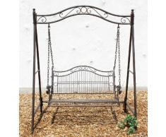 DanDiBo Hollywoodschaukel Gartenschaukel aus Metall 082505 Schaukel Garten Schmiedeeisen