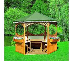 Pavillon PALMA I ohne Möbel Gartenlaube Holzpavillon 308x308x260cm