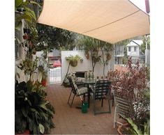 JDlept Sonnensegel,Rechteck Markisenüberdachung Außengarten Terrassenpflanze Swimmingpool 95% Beschattungsrate Sonnenschutz. (Size : 2m*3m)