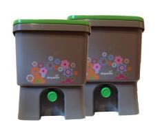 Organico Bokashi Kompost-Eimer für Küchenabfälle 2er Set für Effektive Mikroorganismen