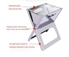 RXRENXIA Notebook Faltgrill-Portable Picknick-Grill mit Chrome Plated Cooking Grid Apply auf Camping Outdoor Garden Grill