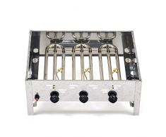 LAG Gasgrill 11kW Standmodell mit Grillrost und Abstellplatten, 3-flammig Grill Gastrobräter Profigrill Verein