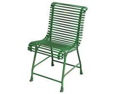 Casa Padrino Gartenstuhl aus Schmiedeeisen 44 cm x 50 cm Gartenmöbel, Farbe:grün