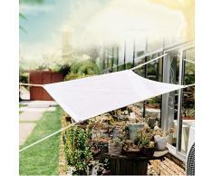 JDlept Sonnensegel, Rechteck Markisenüberdachung Außengarten Terrassenpflanze Swimmingpool 85% Beschattungsrate Sonnenschutz. (Size : 3m*5m)