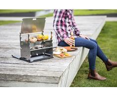 FENNEK Grill | Mobiler und steckbarer Holzkohle-Grill aus Edelstahl für Camping, Trekking, Vanlife, Garten und Outdoor Grill-Spaß…
