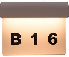 HEITRONIC Hochwertige Aluminium LED Hausnummernleuchte LINDA mit 8,5W und 400 Lumen Hausnummer beleuchtet