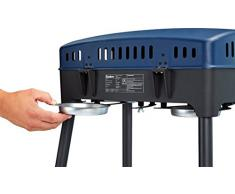 Enders Camping 2090 Gasgrill Explorer, Grillen, Kochen, Backen, 2 Brenner, Gasgrill klein, Balkon/- Picknick/- Camping-Grill, Grill-Thermometer, Aluguss-Grillwanne