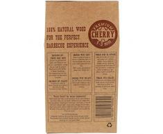 com-four Premium Räucherspäne aus Kirschbaumholz - 100% natürliches Raucharoma Kirsche - Räucherholz für Smoker, Kugelgrill, Standgrill und Gas-Grill - 500 g