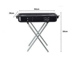 Praktischer Koffergrill Klappgrill ideal für Camping, Urlaub & Picknick - tragbarer Mini Faltgrill für spontane Grillabenteuer in 3 verschiedenen Größen (64 x 38 x 56 cm)
