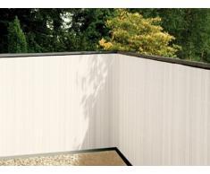Balkonsichtschutz weiss 90x300 Kunststoff Sichtschutzmatte Balkonverkleidung Balkonbespannung