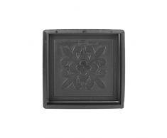 @tec Betonform Schalungsform Gießform Polypropylen (Kunststoff) - Gehwegplatte/Terrassenplatte französische Lilie Orient - 30 x 30 x 3 cm