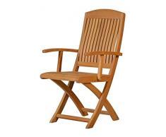 2er Set! Premium Klappstuhl Brighton mit Armlehnen aus Teak-Holz | ✓ Edler Gartenstuhl für Wintergarten ✓ Wetterfestes, klappbares Balkon-Möbel ✓ Praktischer Klapp-Sessel mit Fingerklemmschutz ! ✓