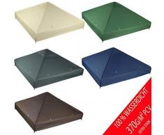 freigarten.de Ersatzdach für Pavillon 3x3 Meter Wasserdicht Material: Panama PCV Soft 370g/m² extra stark Modell 2 (Beige)