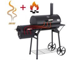 Ultranatura Smoker Grill Denver 2 Brennkammern - 119 x 66 x 135 cm