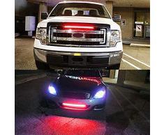 SHIJING 1 STÜCKE 32 cm 42 cm Auto Scheinwerfer bar rot Blitz Polizei warnlicht Streifen led blitzlicht für Grill mit Blinker Folgen,32